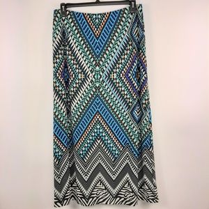 Chico's Geometric Print Fully Lined Maxi Skirt 2